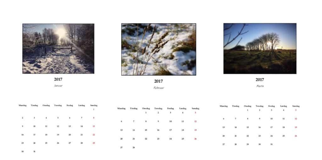 gratis kalender